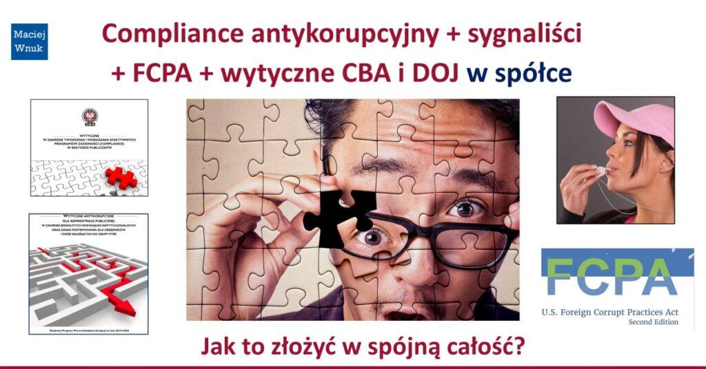 Compliance antykorupcyjny i sygnaliści