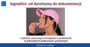 Sygnaliści: od dyrektywy do dokumentacji - szkolenie online
